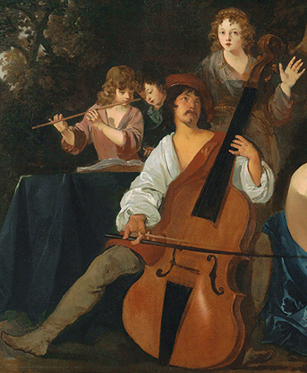 The theme of the painting may be that of Music, in the service of Love and Beauty