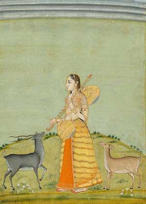 Todi ragini, one of the many brides of Vasanta raga